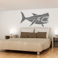 HUGE Megalodon Shark Jaws Great White Vinyl wall decal sticker B0902