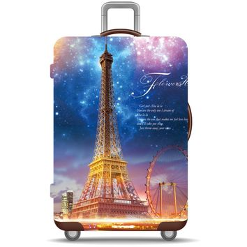 High Elasticity Spandex & Polyester Luggage Cover Galaxy Travel Accessories | luggage protective suitcase cover | Rainbow