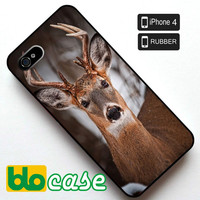 Winter Buck Iphone 4 Rubber Case