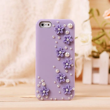 flower protective case for iPhone 5/5c/4/4s, spring phone shell,personalized gift,mobile accessories,the flower sisters