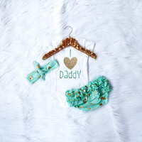 I Love Daddy Outfit (Mint)