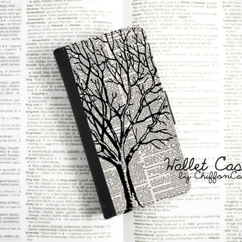 Winter Tree iPhone 5c Wallet Case , Leather iPhone 5 Case, iPhone 5s Wallet Case , Men iPhone 5c Case, Cover, Cases