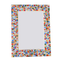 Large Wall Mirror // Colorful Mosaic Mirror // Handmade Wall Art