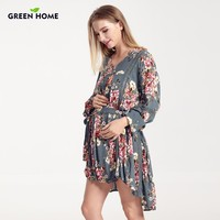 Floral Print Nursing Dress