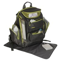 Jeep Organizer Easy Access Back Pack Diaper Bag - Grey/Green