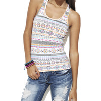 Multicolor Aztec Racer Tank | Shop 5 for $20 at Wet Seal