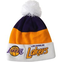 New Era Los Angeles Lakers Current Cuff Scripter Knit Hat - Purple/Gold/White
