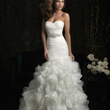 Allure Bridals 8966 Ruffle Mermaid Wedding Dress