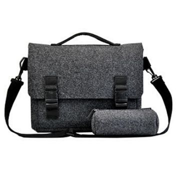 Men Women Notebook Bags For 15-Inch Laptop Travel Business,Hair Felt,Dark Grey