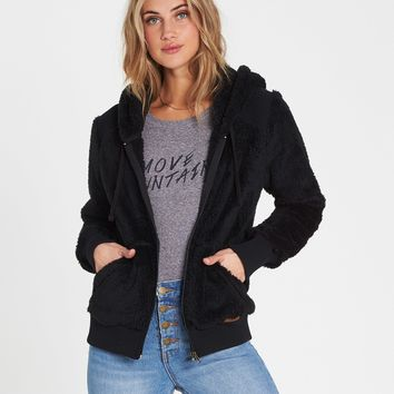 Billabong Women's Cozy Down Polar Fleece Jacket