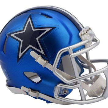 DALLAS COWBOYS RIDDELL BLAZE SPEED FOOTBALL MINI HELMET 8053657