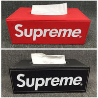HIGH QUALITY Supreme Leather Tissue Box