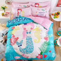 100% Cotton Mermaid Bedding Set