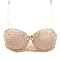 Floral Lace Strapless Convertible Bra: Charlotte Russe