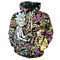 Rick And Morty Funny Streetwear Fashion Anime Hoodie