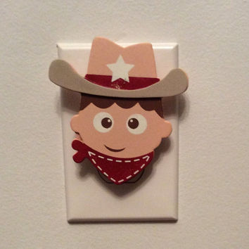 Cowboy Outlet Cover, Western Outlet Cover, Cowboy Nursery Decor