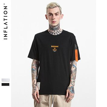 INFLATION Men MA1 Style Pilot Zipper Pocket T shirt
