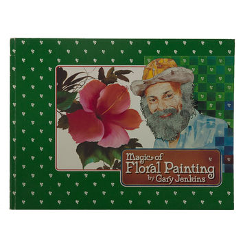 "Gary Jenkins ""Magic of Floral Painting"" 1983 First Printing '80s TV KOCE-TV PBS SoCal"