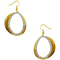 CHLOE PAVE STATEMENT DROP EARRING IN GOLD