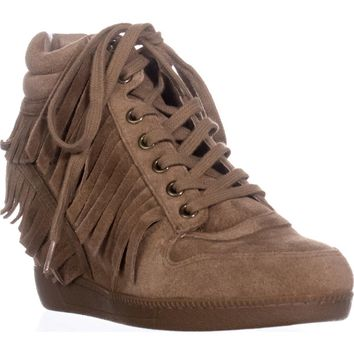 Ash Beatnik Fringe Wedge Fashion Sneakers, Russet, 7 US / 37 EU