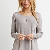 Textured Ribbed Knit Top