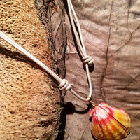 Sunrise Shell Cord Necklace