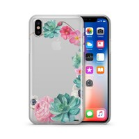 Watercolor Succulent - Clear TPU Case Cover