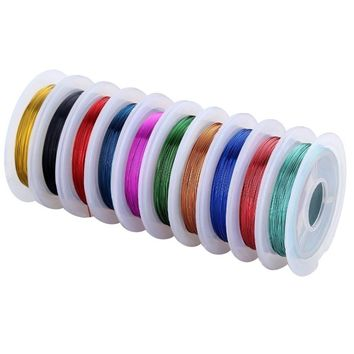 Navifoce Versatile Colorful Bare Copper Wire Making Beading Jewelry Wire,0.3mm,10m Length