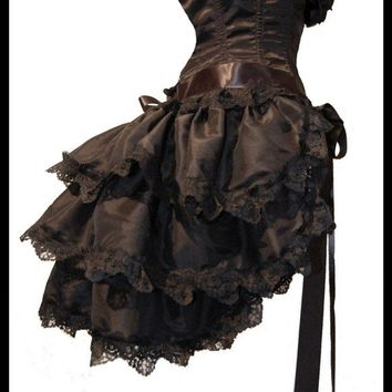 Gothic Burlesque Steampunk Bustle Skirt TO the DEVIL a DAUGHTER Victorian Decadence by Lovechild Boudoir