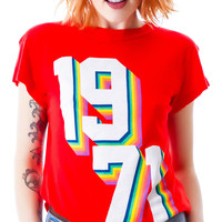 Wildfox Couture Rainbow '71 Desert Crew Holiday