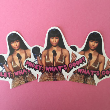 "Nicki Minaj ""Miley, Whats Good?"" Sticker Set"