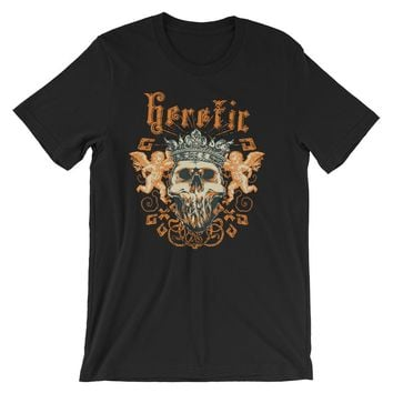 Heretic King Skull Short-Sleeve Unisex T-Shirt