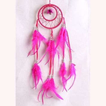 Ring Wind Bell Dream Catcher Feather Cars Home Decor [9613388431]