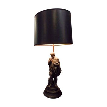 Pre-owned Cast Pot-Metal Shakespeare Lamp 1940s