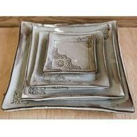Retro Plate Set by JustWork on Etsy