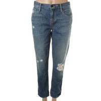 Genetic Womens Alexa Cruise Wash Distressed Skinny Jeans