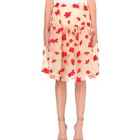 SIMONE ROCHA - Floral-embroidered tulle skirt | Selfridges.com