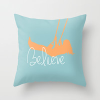 'I Believe' Throw Pillow by 83oranges.com