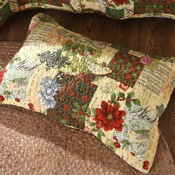 "Tache Festive Holly and the Ivy Pillow Sham - 20"" x 30"" 2 Piece (SD-29-Sham)"