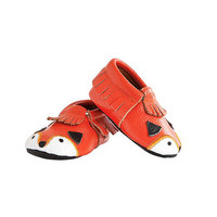 MOC HAPPENS™ LEATHER BABY MOCCASINS | Fox