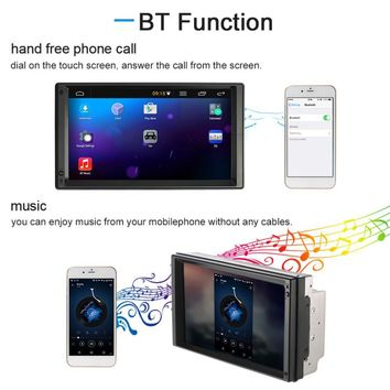 7 Inch Android 5.1 HD LCD Large Touch Display Screen Car DVD/MP5/MP3 Player Machine GPS Navigation System Multimedia Player