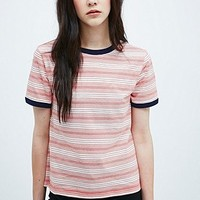 Cooperative Stripe Ringer Tee in Red - Urban Outfitters
