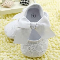 Lace Bowknot Baby Girl  Shoes