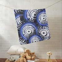 Blue Suns Pattern Baby Blanket
