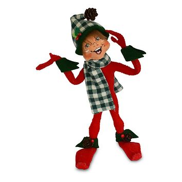 Annalee Dolls 9in 2018 Christmas Northwoods Elf Red Plush New with Tags