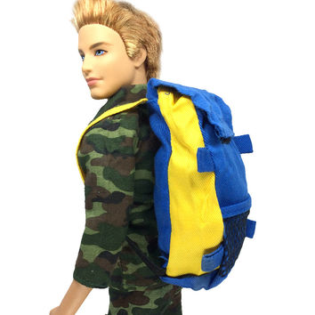 NK Original Prince Doll Knapsack Marines Accessories Bag For Barbie Boy Male Ken Doll For Lanard 1 6 Soldier Best Gift 011D