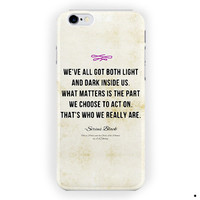Harry Potter Sirius Black Quote For iPhone 6 / 6 Plus Case