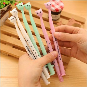 5PCS/lot Hot Sale Stationery Store Cute Korean School Office Supplies 0.5mm Ink Gel Pens Smooth Write Pens Cute Sign Pens
