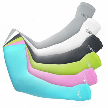 Unisex Outdoor Sports UV Separate Drive Arm Sleeve Running Bicycle Summer Cool Sunscreen Cuffs Manguitos Para Ciclismo