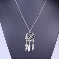 Vintage Dream Catcher Boho Necklace